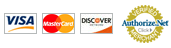 Currently Accepting Visa, MasterCard and Discover - Authorize.Net